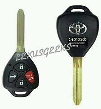 NEW 4 BUTTON REMOTE KEY SHELL CASE FOB FOR TOYOTA COROLLA CAMRY MATRIX RAV4