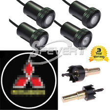 2 Pair LED Welcome Projector Laser Logo Car Step Door Bombillas For Mitsubishi