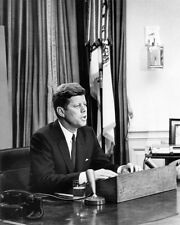 1963 35th US President JOHN F KENNEDY JFK Glossy 8x10 Photo Civil Rights Poster
