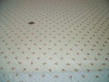 SILK/COTTON PRINT-SMALL DIAMOND DOBBY FLOWER-CREAM/GOLD -DRESS FABRIC-1.0 METRE