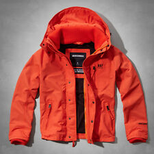 NWT Abercrombie & Fitch Mens A&F All-Season Weather Warrior Jacket Orange Medium