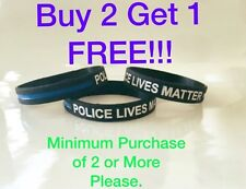 Thin Blue Line Bracelet Police lives Matter Silicone (1)Police Support Wristband