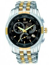 Citizen Eco-Drive Stainless Steel Diamond set Chronograph. Perp Cal. BL8044-59E