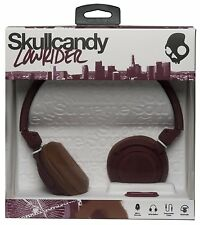 SKULLCANDY Lowrider DJ Style Over Ear Headphones + Mic + Volume Control - MAROON