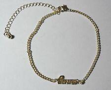 """Bijou fantaisie mode idée cadeau : Bracelet / chaine de cheville dorée """"love"""""""