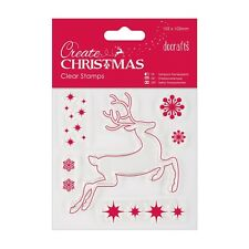 REINDEER CLEAR STAMP SET - DOCRAFT'S CREATE CHRISTMAS COLLECTION