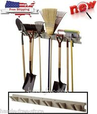 Tool Hanger Storage Organizer Wall Mounted Garage Garden Shed Rack Shovels Broom