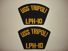 Group Of 2 US Navy USS TRIPOLI LPH-10 Patches