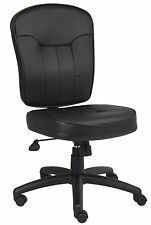 Boss Office Products Black Leather Task Chair B1560 New