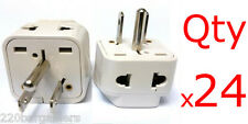 24pk Plug Converter 2 In 1 Universal American Adapter - Euro Asia Plug to USA