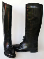 GUCCI New sz 36 - 6 Designer Riding Black Leather Womens Shoes Boots $1150
