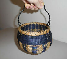 Navy BEAN POT Basket - Handmade Woven Basket