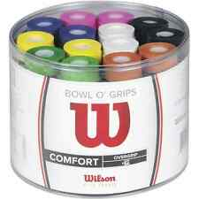 BOWL OF 50 INDIVIDUAL WILSON BOWL O GRIP TENNIS OVERGRIP VARIOUS COLOURS