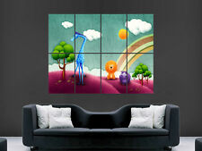 CHILDRENS NURSERY ANIMALS BRIGHT COLOURFUL  LARGE WALL ART POSTER PICTURE
