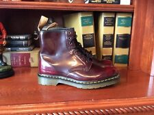 Dr. Martens 11822 Vegan Boots Men's Size US 9 M 8 Eye Cherry Red Combat