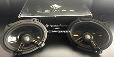 "ROCKFORD FOSGATE POWER T1682 6 x 8"" 2-Way Speakers Aluminum Dome Tweeters Ford"