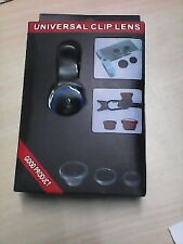 Universal Clip Mobile Phone Lens 3 in 1 Photo Lens wide Angle Lens