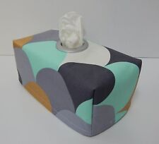 Circles Grey Gold Mint Tissue Box Cover With Circle Opening - Lovely Gift