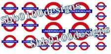 MRE Transfers ~ LONDON UNDERGROUND Waterslide Transfers 1/76 00 Gauge MINI SHEET