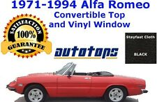 Alfa Romeo Spyder 1971-1994 Convertible top - OEM Cloth - Padded Quarters