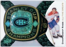 JEAN BELIVEAU 2011-12 Black Diamond All-Time Greats Championship Rings Card ATG1