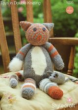 STYLECRAFT9235  CAT AND MOUSE d.knit  KNITTING PATTERN-not the finished items