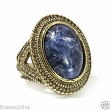 AUDREY HEPBURN JEWELRY COLLECTION! GENUINE SODALITE RING SIZE 9! TRADEMARK! NEW!