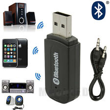 Wireless USB Bluetooth Music Audio Receiver Adapter 3.5mm Dongle A2DP Home Car