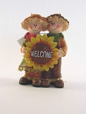 5 In Welcome Scarecrow Figurine Thanksgiving Halloween Autumn Fall Decoration