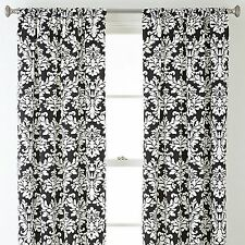 SkylineWears Printed Rod Pocket Top Blackout Window Doors Two Piece Curtains