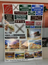 G LGB 1:24 Scale Vintage Station Adverts Notices Signs Railway Layout Diorama