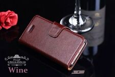 Iphone 5/5s/SE First Layer Genuine Leather Wallet Case Grade A, Wine