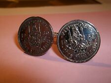 SCOTTISH SHILLING COIN CUFFLINKS 1947 - 1966 PICK YOUR YEAR