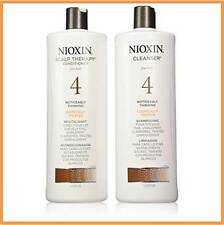 NIOXIN SYSTEM 4 CLEANSER & SCALP THERAPY/SHAMPOO & CONDITIONER 33.8OZ/1 LITER EA