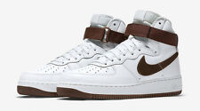 New Men's Nike Air Force 1 High Retro Summit White/Chocolate Size 9.5 Brand New!
