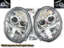 New Beetle 1998-2005 98-05 Angel-Eye Projector HEADLIGHT Chrome for VW