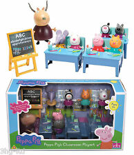 Peppa Pig Toy 7 Figures School Classroom Playset New 3+