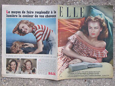ELLE FRENCH VINTAGE MAGAZINE 1947 JULY 15th BABAR the ELEPHANT, DOROTHY PARKER