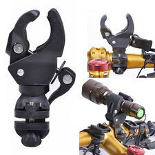 360° Mountain Bike Cycling Bicycle Mount Holder for Flashlight Torch Clip Clamp