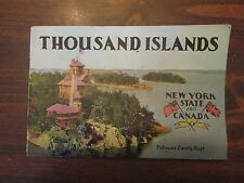Thousand Islands New York State and Canada 1940-50's Booklet