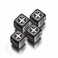 Q-Workshop Fudge d6 Dice Set (4) Ancient Black & White 46AFU05