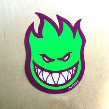 DLX Spitfire flaming head sticker skateboard wheel purple green neon medium SK8