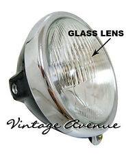 HONDA SL100 SL125 XL100 XL125 XL175 HEAD LIGHT *GLASS* + CASE [ID]