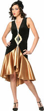 Puttin' on the Ritz 20's Flapper Black Gold Dress Up Halloween Adult Costume