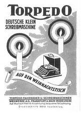 Original-Anzeige (86) Werbung Reklame Schreibmaschinen: Torpedo, 1928