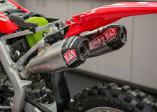 Yoshimura RS 9T Dual Full Exhaust Stainless w/ Carbon Cap Honda CRF450R 2017