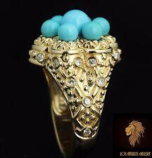 Levian Ring / NEW / 10.5 CT Diamond & Sleeping Beauty AAA Turquoise / 14K