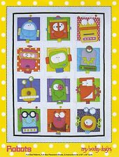 ROBOTS Fusible Applique Quilt Pattern by Amy Bradley Designs BRAND NEW