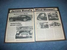 "1960 Aston-Martin DB2/4 MKIII Vintage Article 'James Bond's Mind Blower!"" 351C"