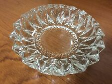 KIG Indonesia Clear Glass Cut Cigar or Cigarette Ashtray
